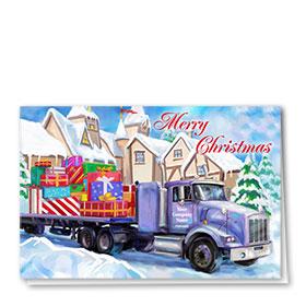 Trucking Christmas Cards - Plenty of Presents