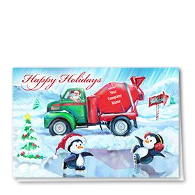 Holiday Card-Penguin Skate