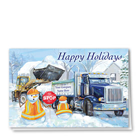 Construction Christmas Cards - Frosty Crew