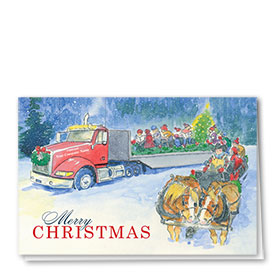 Trucking Christmas Cards - Christmas Camaraderies