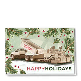 Construction Christmas Cards - Berry Paver