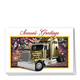 Trucking Christmas Cards - Golden Cab