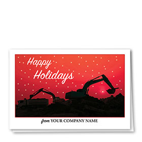 Christmas Jeep Silhouette.Construction Christmas Cards Birthday Cards Sole Source