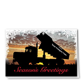 Construction Christmas Cards - Winter Silhouette