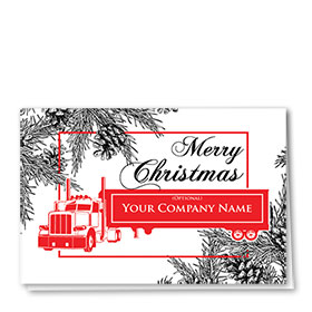 Trucking Christmas Cards - Impressive Pines