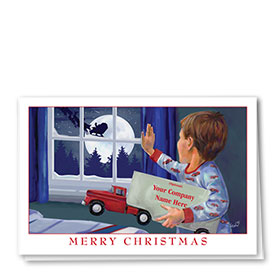 Trucking Christmas Cards - Wave to Santa
