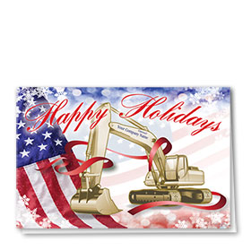 Construction Christmas Cards - American Excavator