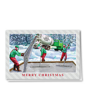 Construction Christmas Cards - Concrete Helpers