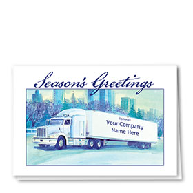 Trucking Christmas Cards - Shades of Blue