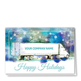 Trucking Christmas Cards - Painted Holiday