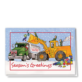 Construction Christmas Cards - Construction Elves