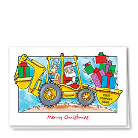 Construction Christmas Cards - Work Together