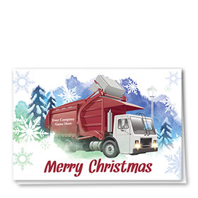 Trucking Christmas Cards - Refuse Magic