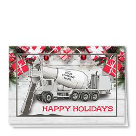 Construction Christmas Cards - Happy Concrete