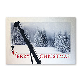 Pearl Paper Flat Cards - Snowy Day Crane