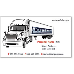 Full-Color Trucking Business Cards - Truck 1
