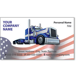 Full-Color Trucking Business Cards - Truck 4