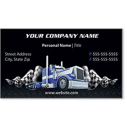 Full-Color Trucking Business Cards - Truck 5
