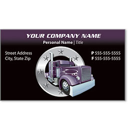 Full-Color Trucking Business Cards - Truck 6