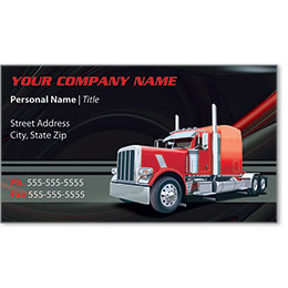 Full-Color Trucking Business Cards - Truck 7