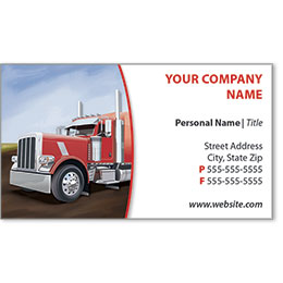 Full-Color Trucking Business Cards - Truck 9