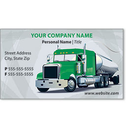 Full-Color Trucking Business Cards - Tanker 2