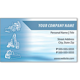 Full-Color Construction Business Cards - Construction 1