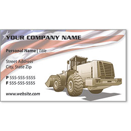 Full-Color Construction Business Cards - Construction 3