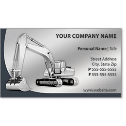 Full-Color Construction Business Cards - Excavator 3