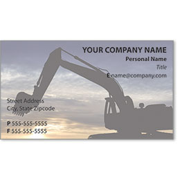 Full-Color Construction Business Cards - Excavator 4