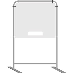 InteliShield Protective Screen  Large Floor Standing 80 x 40 in