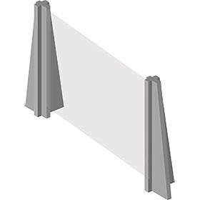 InteliShield Protective Screen – Economy Counter Top 30 x 48 in