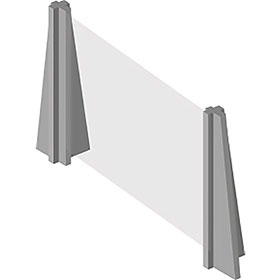 InteliShield Protective Screen – Economy Counter Top 30 x 48 in - (Set of 4)