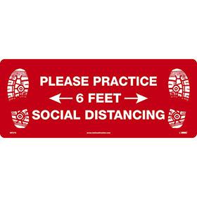 Please Practice Social Distancing Floor Sign