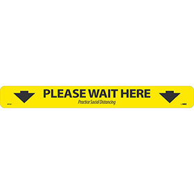 Please Wait Here Floor Marking Strip
