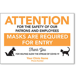 "Masks Required - Vet's Office Personalized Poster 13"" x 19"""
