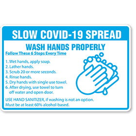 Slow Covid-19 Spread - Sign 12x18 in
