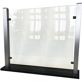 "Countertop Acrylic Shield with Aluminum Frame -  25-1/4"" H x 35"" W"
