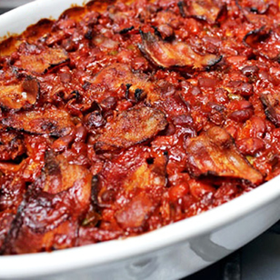Baked Beans with BBQ Sauce