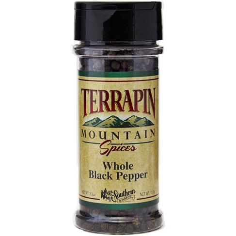 Terrapin Mountain Whole Black Pepper - 3.3 oz