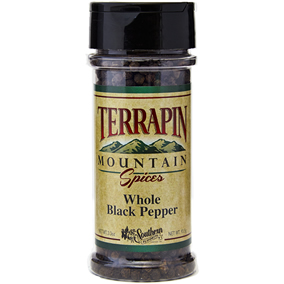 Terrapin Mountain Whole Black Pepper - 3.3 oz - 3.3 oz Bottle