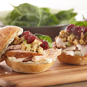 Leftover Turkey and Cranberry Sandwich