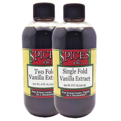 Single & Double Vanilla Extract 8 Oz. Duo