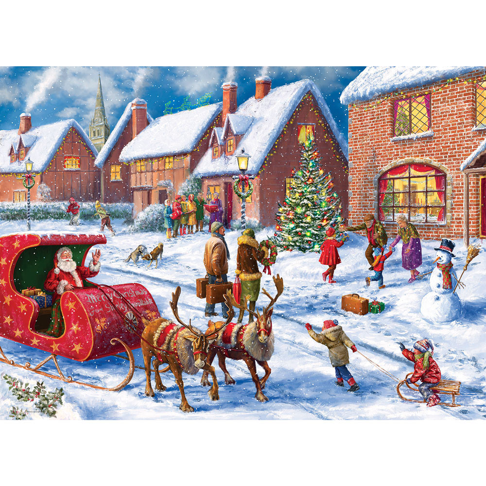 Twas The Night Before Christmas 300 Large Piece Jigsaw Puzzle Spilsbury