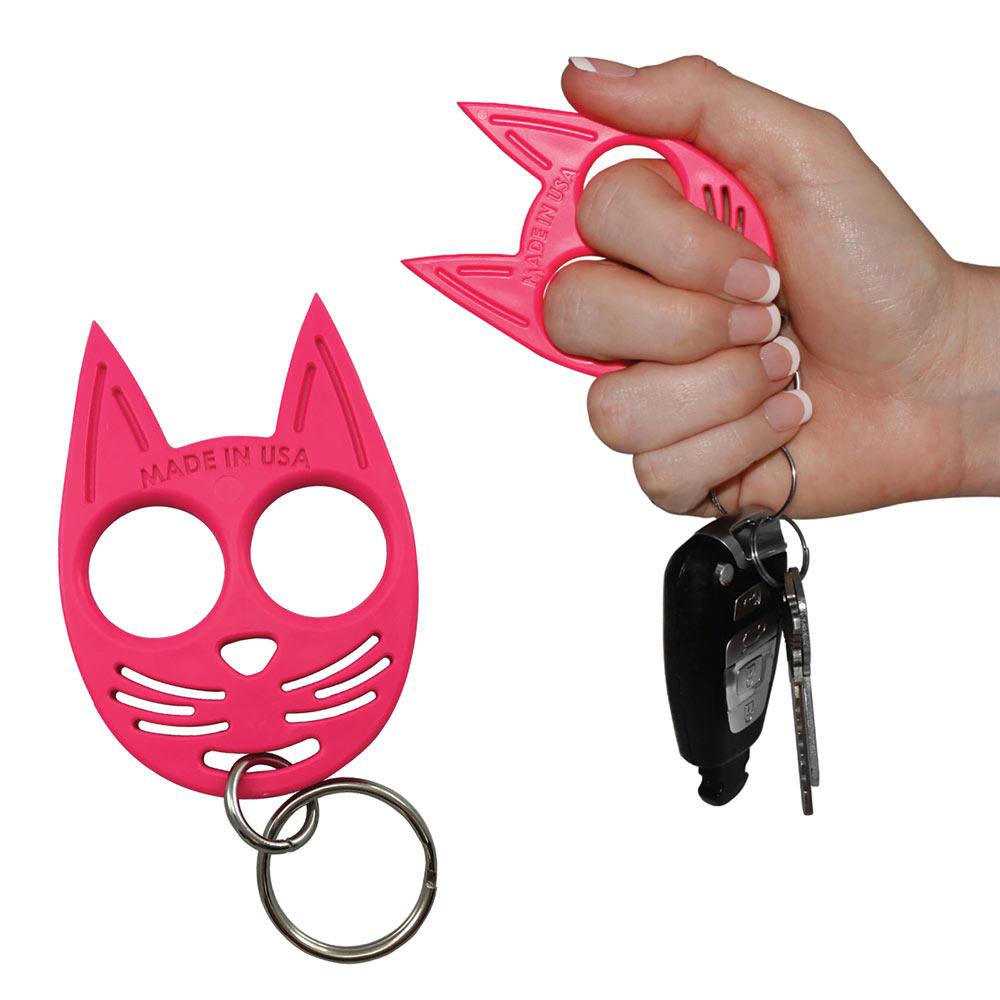 Self Defense Kitty Keychain Hot Pink Spilsbury