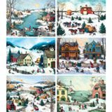 Set of 6: Linda Nelson 1000 Piece Jigsaw Puzzles