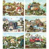 Set of 6: Linda Nelson Stocks 1000 Piece Jigsaw Puzzles