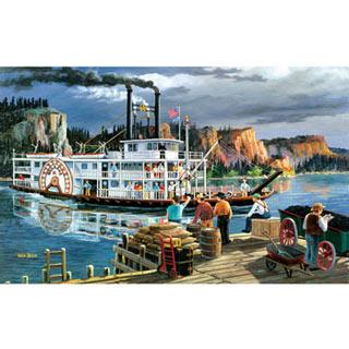 River Boat 550 Piece Jigsaw Puzzle