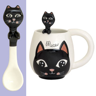 Cat Mug & Spoon