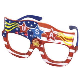 Light Up USA Glasses